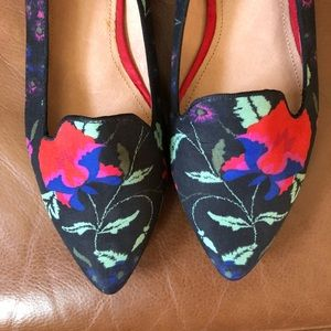 Joie Day Dreaming Floral Canvas Smoking Slippers